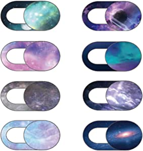 Webcam Cover Slide 8 Packs, Cuxnoo Ultra Thin Camera Privacy Protector fit for MacBook Pro, iMac, iPad Pro, and More Laptop or Tablet, Colorful Space