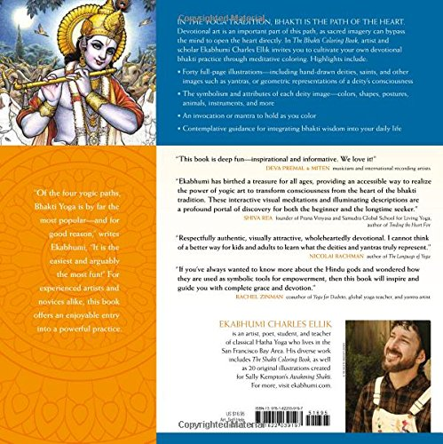Amazon The Bhakti Coloring Book Deities Mandalas And Art Of Playful Meditation 9781622039197 Ekabhumi Charles Ellik Books