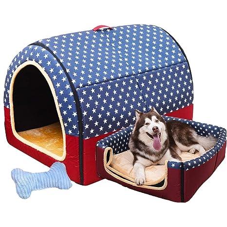 LVAB Cama para Mascotas Perro Grande Casa De Perro Invierno Mantener Caliente Lavable Cuatro Estaciones Perrera Interior Casa De Perro 6 Colores ...
