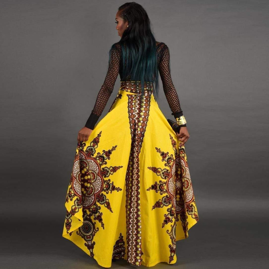 Falda de Mujer Africana 2018, AiBarle Verano, Bohemio, Larga ...