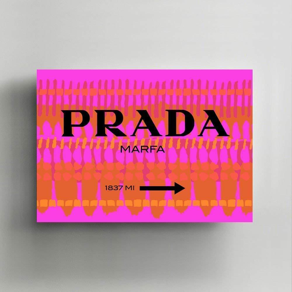 Prada Marfa Canvas Wall/Print Art, Gallery Wrapped, Interior Decoration, Modern Art - 'Found Prada'.