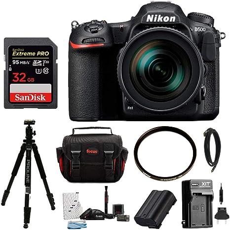 Nikon D500, DX DSLR Cámara w/16 – 80 mm f/2.8 – 4 Ed VR Lente y 32 ...