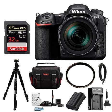 Nikon D500, DX DSLR Cámara w/16 - 80 mm f/2.8 - 4 Ed VR Lente y 32 ...