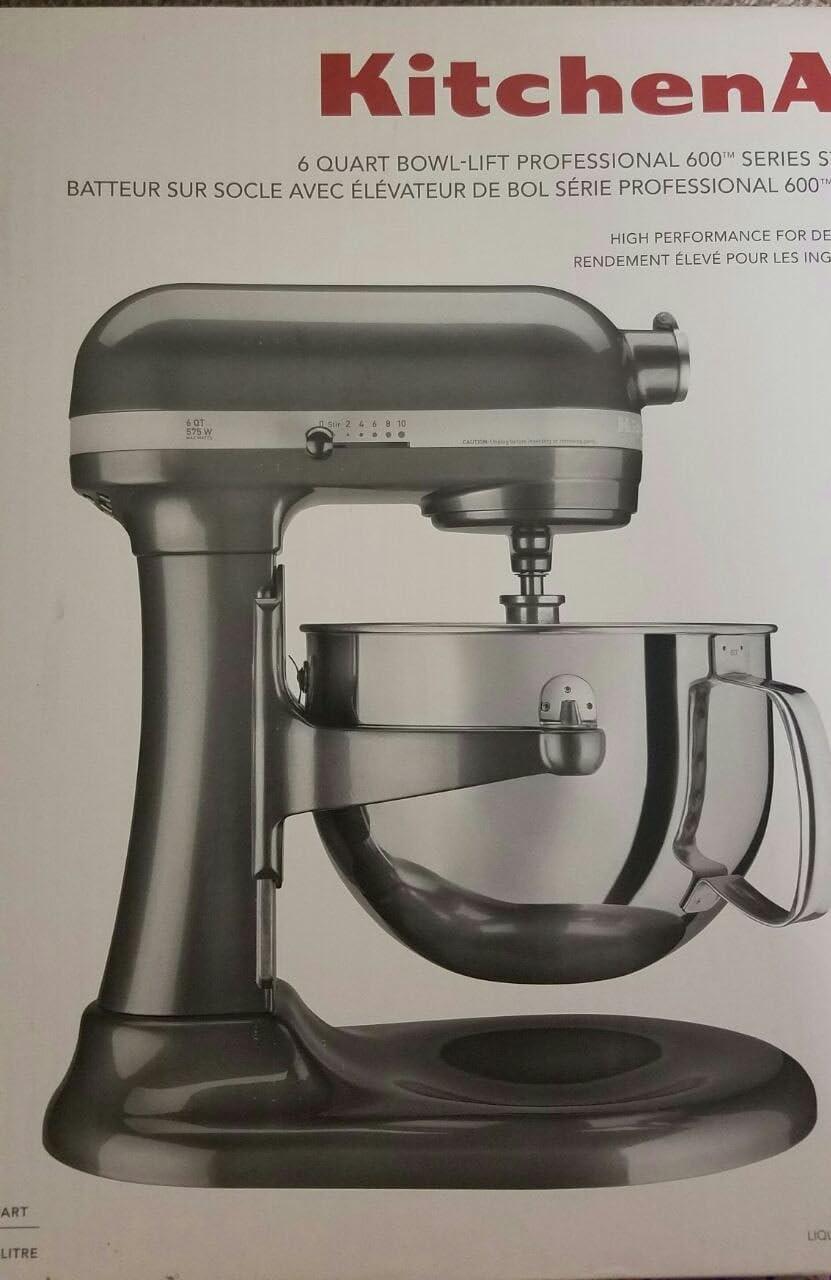 Amazon Com Kitchenaid Professional 600 Series 6 Quart Stand Mixer Kp26m1xqg5 Electric Stand Mixers Kitchen Dining