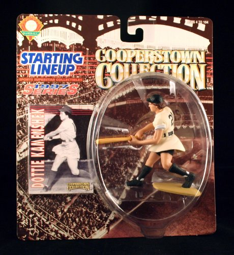 DOTTIE KAMENSHEK / ROCKFORD PEACHES * All-American Girls Professional Baseball League * 1997 MLB Cooperstown Collection Starting Lineup Action Figure & Exclusive Trading Card