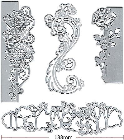 SunYueY Moldes De Corte De Encaje Floral DIY Scrapbooking Tarjetas De Papel Photo Craft Stencil Molde, Haga Su Vida Llena De Buenos Recuerdos: Amazon.es: Hogar