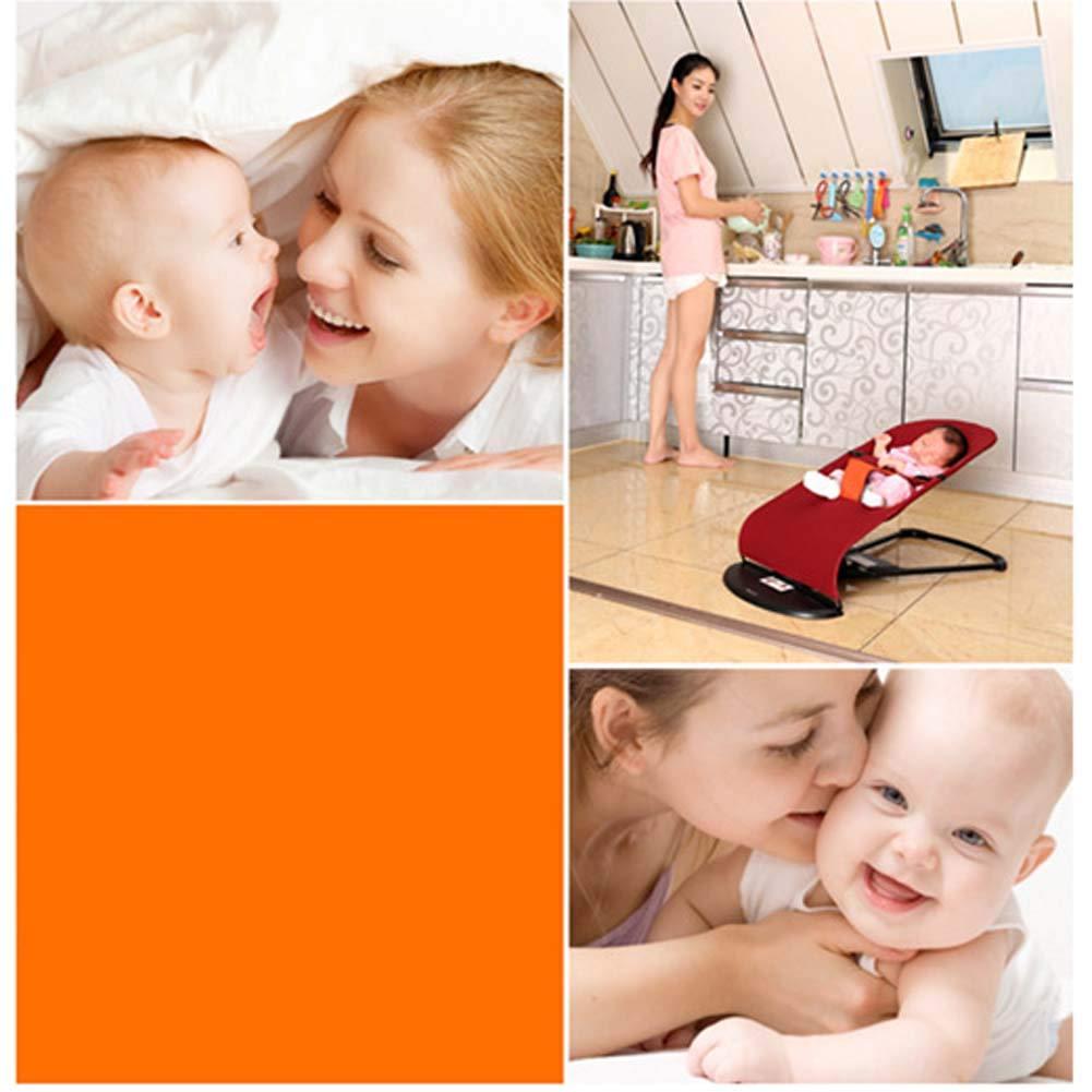 LALABOOM Algod/ón Hamacas Bebes Respaldo Ajustable Sistema de arns F/ácil de Limpiar,para beb/és de 0-12 Meses,Blue