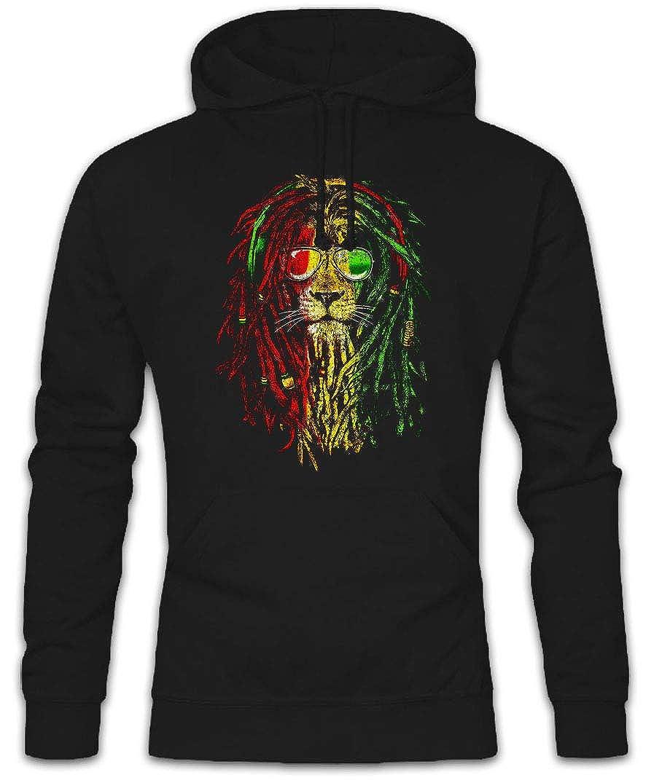 Urban Backwoods Rastafari Lion I Hoodie Sudadera con Capucha ...