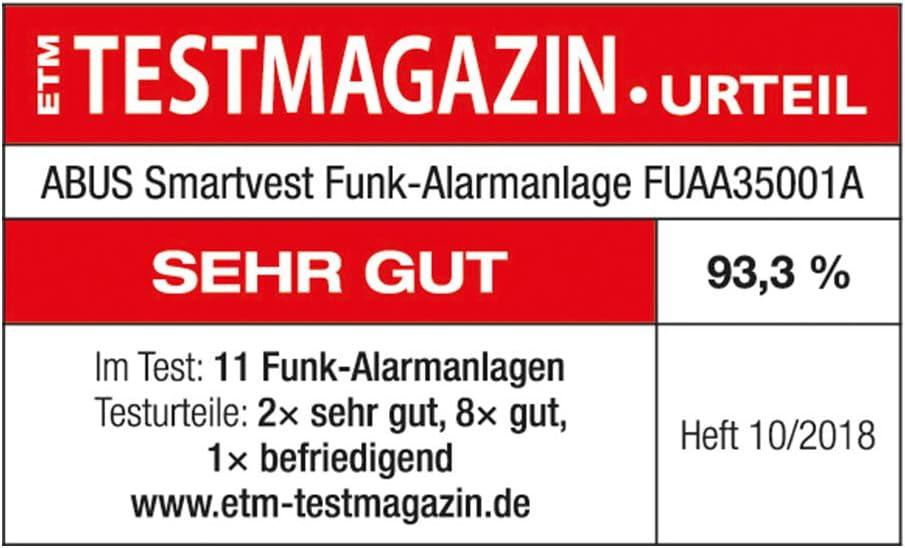 /Fubw3/5000/A Abus d/étecteur de Mouvement sans Fil Smart Gilet/ /Blanc/