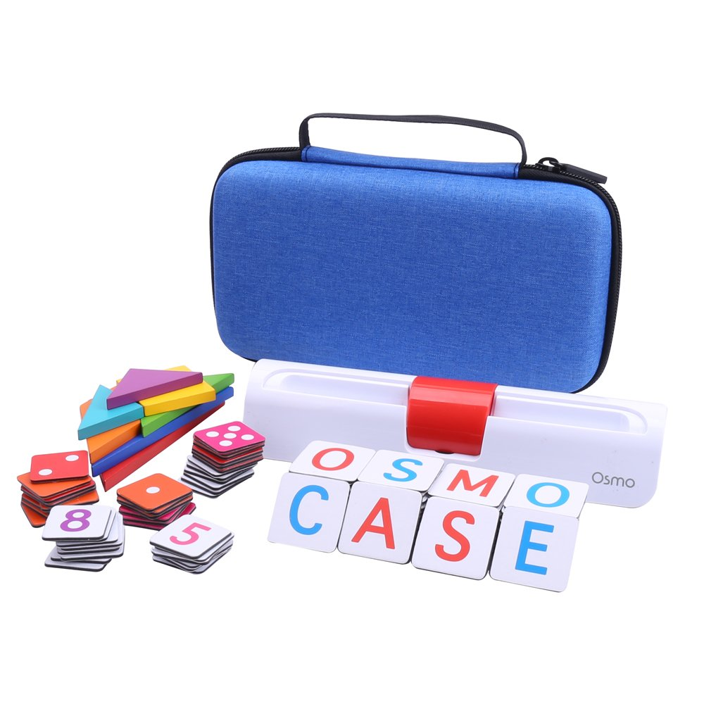 Aenllosi Storage Organizer Case for Osmo Genius Kit, fits OSMO Base/Starter/Numbers/Words/Tangram/Coding Awbie Game (for OSMO Genius Set, Blue) by Aenllosi (Image #6)