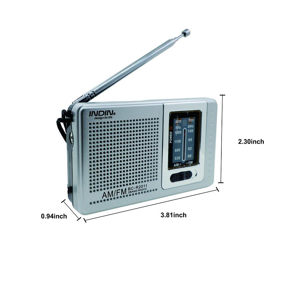 Amazon.com: INDIN BC-R2011 AM / FM Portable Pocket Radio-Best ...