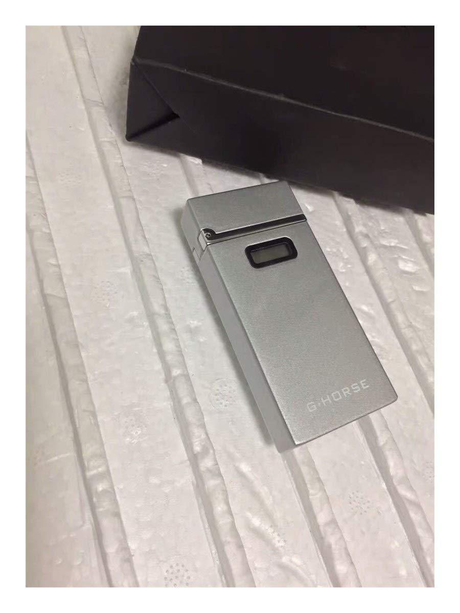 Color : Black Woodrow Whyet Plus l/éger /Électrique Briquet avec LED Display Power USB De Recharge Allume-Cigare Coupe-Vent Arc Briquets Plasma Gadgets for Les Hommes