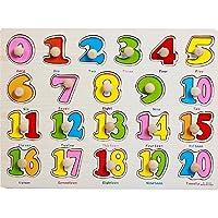 Wcysin Wooden Jigsaw Puzzles, Baby Kids Wood Arabic Numerals Puzzle Jigsaw Letter Blocks Toy Wisdom Development Educational Toy Set Child Gift