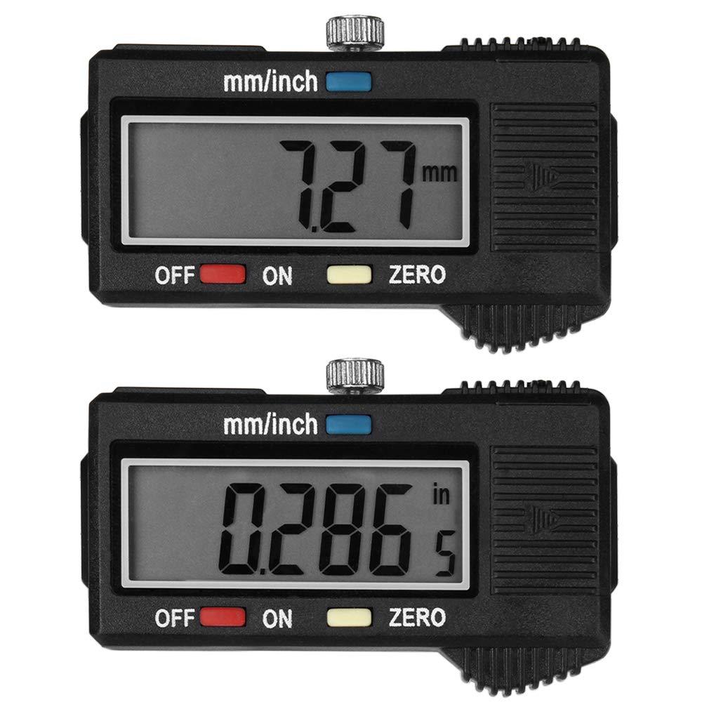 micr/ómetro de calibrador a vernier de fibra de carbono electr/ónica de 100 mm Calibrador a vernier digital con pantalla LCD extra grande