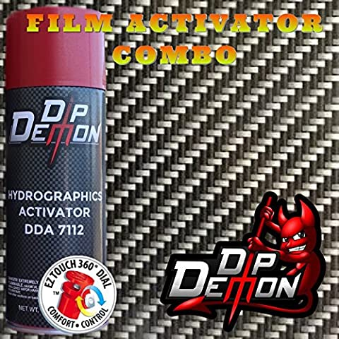 Combo Kit Hex Carbon Fiber Hydrographic Water Transfer Film Activator Combo Kit Hydro Dipping Dip - Demon Carbon Fiber