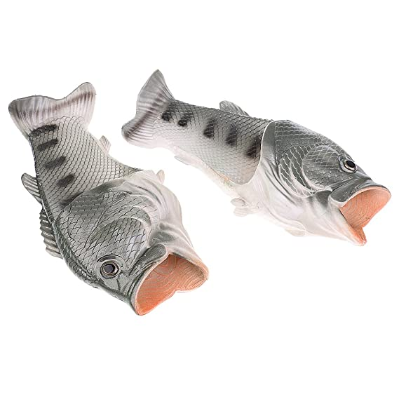 0b21ccd95b6f Segolike Men Women Cute Creative Slippers Fish Slippers Beach Sandals  Summer Casual Shoes Black - black