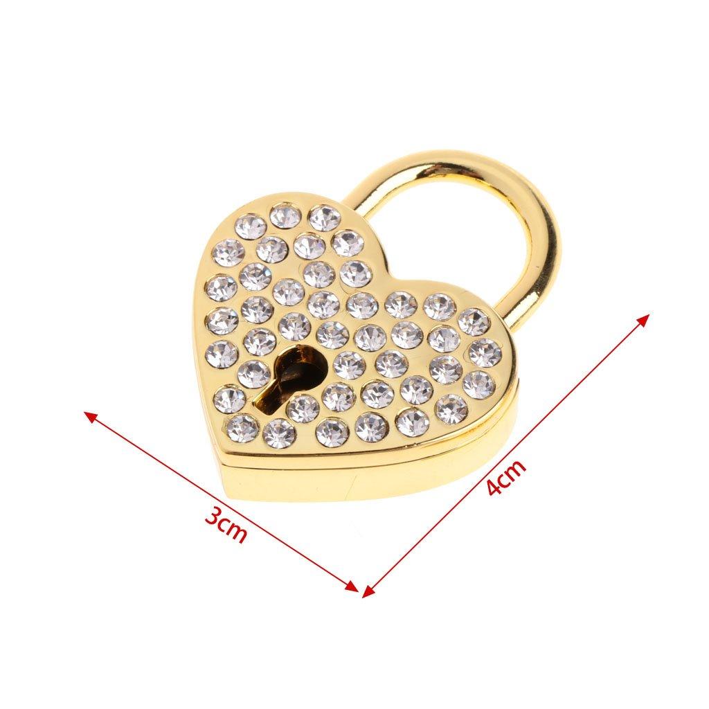 Mentin Serrure /à Cl/é de Cadenas DArchaize de Style Antique Vintage de Vieux Diamants avec la Cl/é Rouge