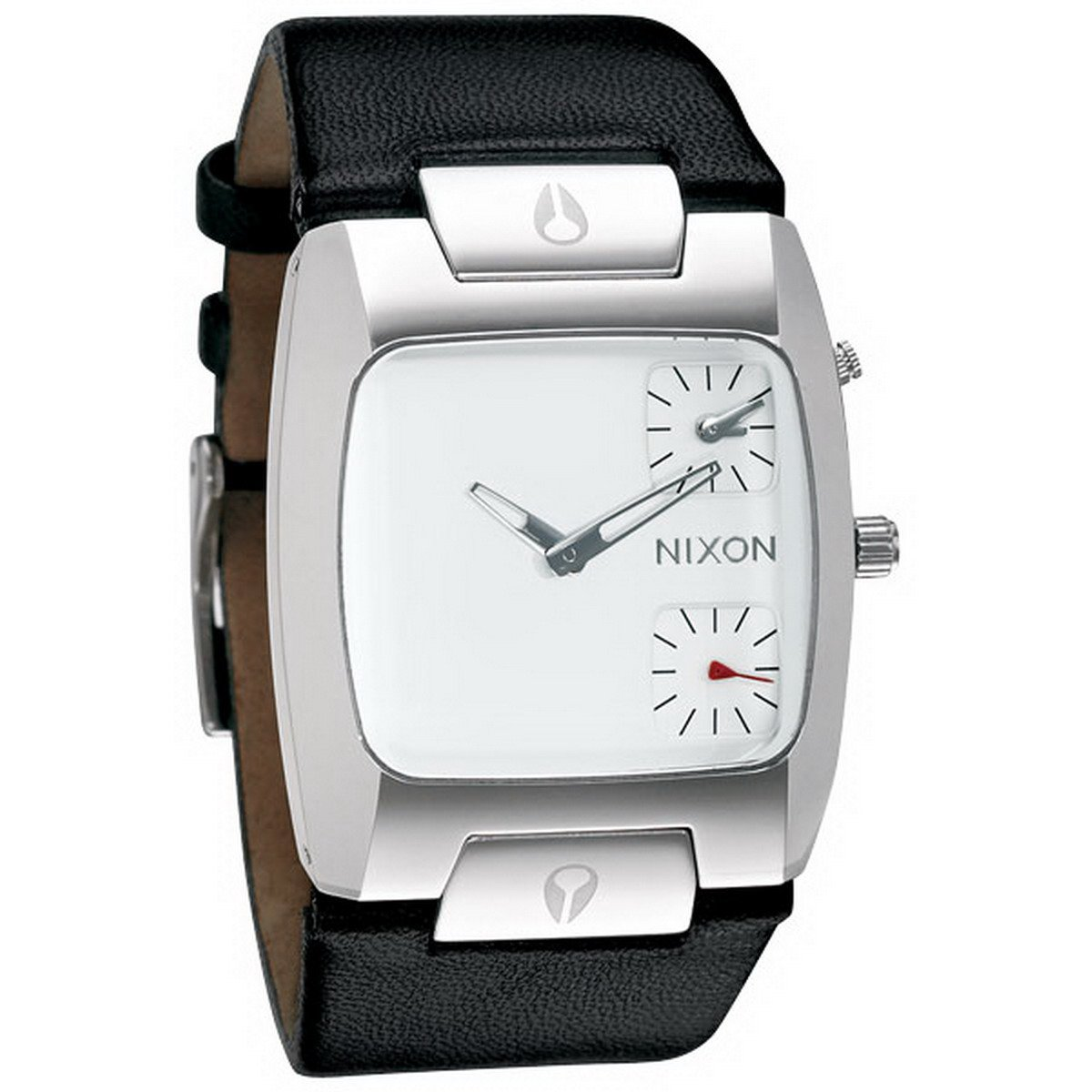 ce0feec608 Nixon Men s Banks Leather A086100 Black Leather Quartz Watch with White  Dial  Nixon  Amazon.ca  Watches