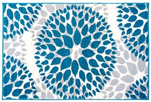 Rugshop Modern Floral Circles Design Area Rug, 2' x 3', Blue