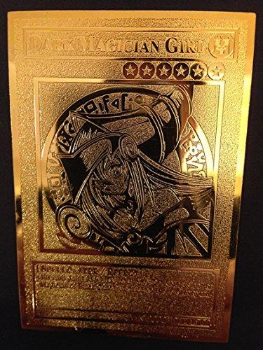 USA Seller Yugioh Dark Magician Girl English Golden Metal Card Custom Made ()