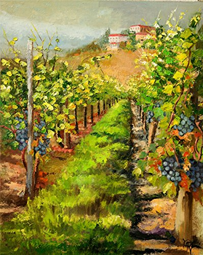 ((SOLD) Merlot Vines of Tuscany - picturesque Italy by internationally renown painter Yary Dluhos)