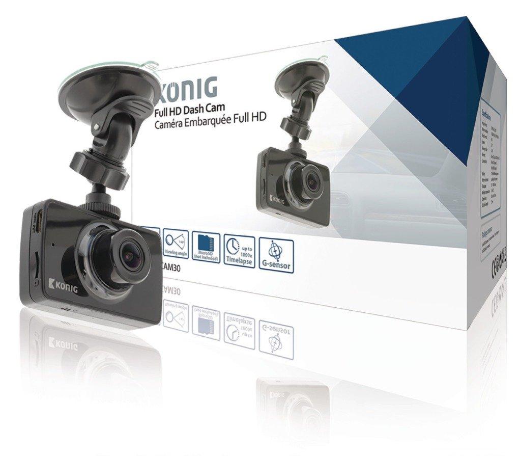 Konigダッシュボードカメラ2.4インチ1920 x 1080 @ 30 fps [ sas-carcam30 ] B0784GL1WT