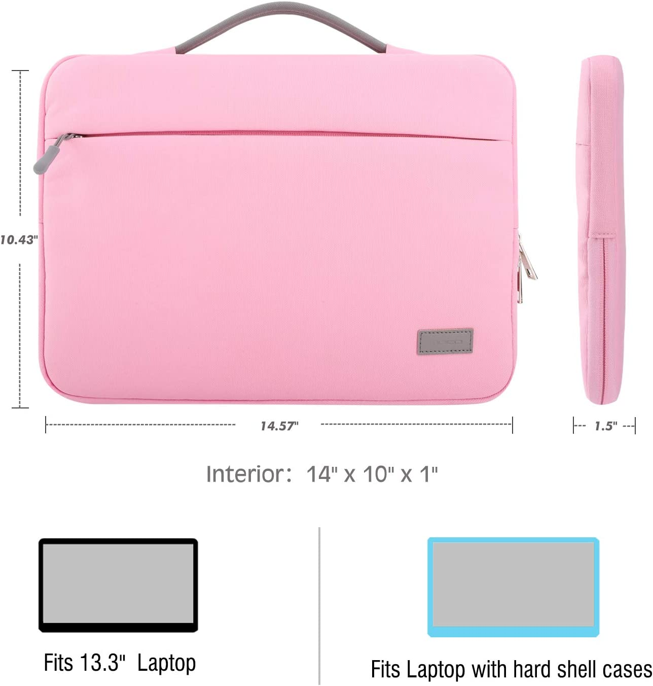 Pink Daisy Flower Laptop Sleeve 17.5 Inch Waterproof Neoprene Computer Case for Laptop Cute Art Computer Bag for MacBook Acer Samsung Ultrabook Girly Floral Laptop Case 17.3 inch for Women