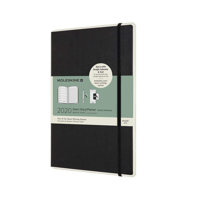 schwarz Moleskine Smart Wochen-Notizkalender 2020 Digitaler Kalender geeignet f/ür die Verwendung mit Moleskine Pen+,12 Monate, Large 13 x 21 cm