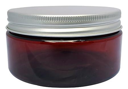 Amazon Com Amber 8 Oz Plastic Jars Pet Heavy Wall Low Profile Wide