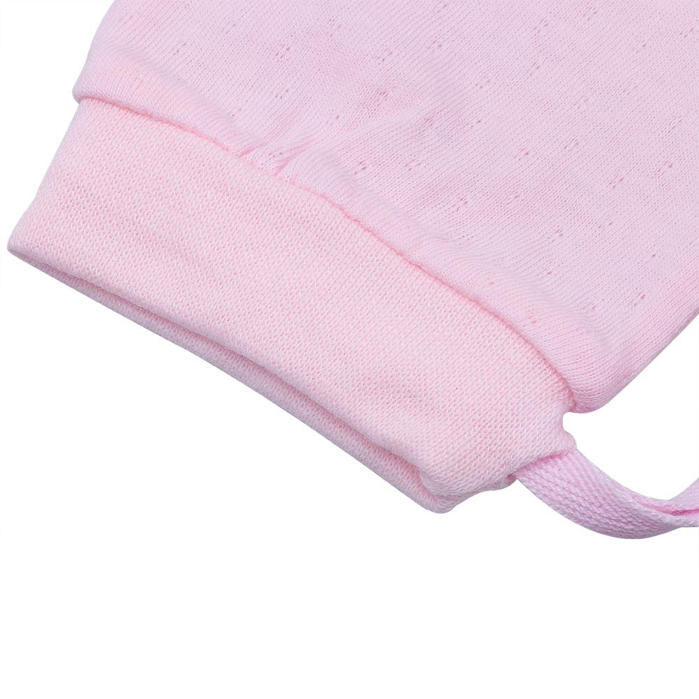 Ehdching Pack of 4 Unisex Mesh Thin Cotton No Scratch Mittens Gloves for 0-12 Months Newborn Infant Baby Boys Girls