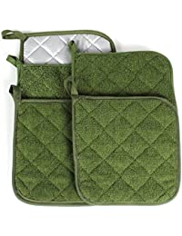Acquisition 100% Cotton Kitchen Everyday Basic Terry Pot holder Heat Resistant Coaster Potholder for Cooking and Baking Set... online
