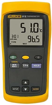 Fluke 51-2 Calibrated Single Input Thermometer  Amazon.com ... 7839874f18ff7