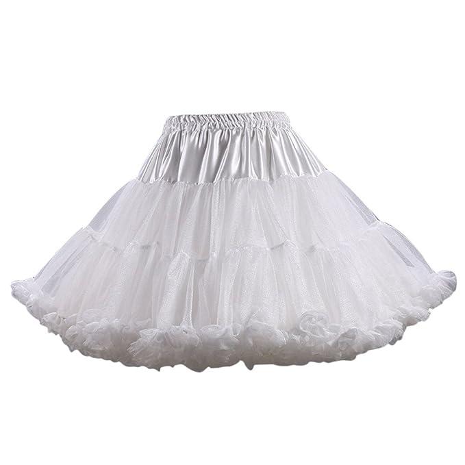 57ab3b8eee Aimeely Lovely Women Adult Fluffy Ballet Party Petticoat A line Short Tutu  Skirt 1#