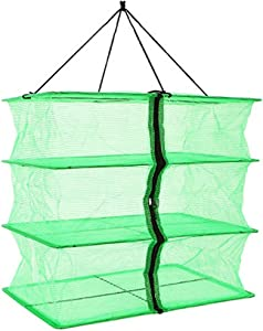 Fish Mesh 3 Tray Hanging Drying Net Food Dehydrator for Drying Herbs ,Fruits ,Vegetables,Fish