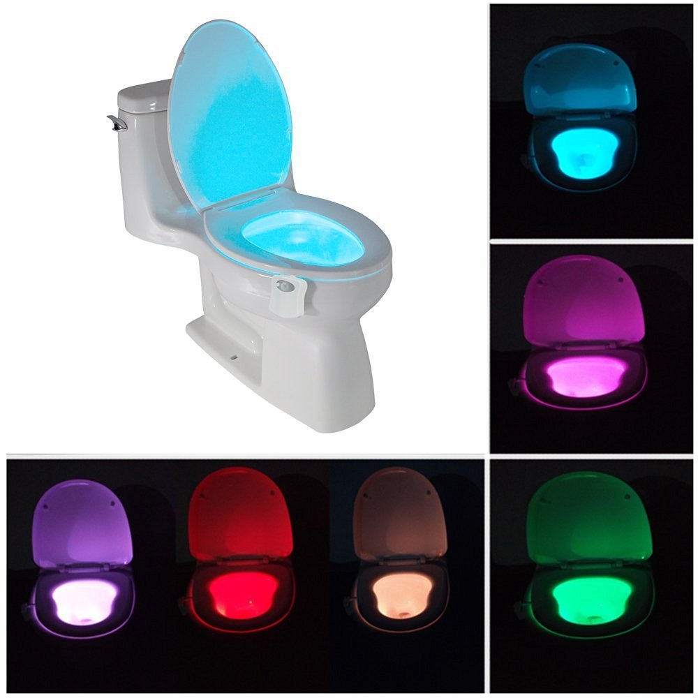 8 Colors Change Sensor LED Night Light Motion Activated Toilet Seat Night Light Berngi BEBEBE0000