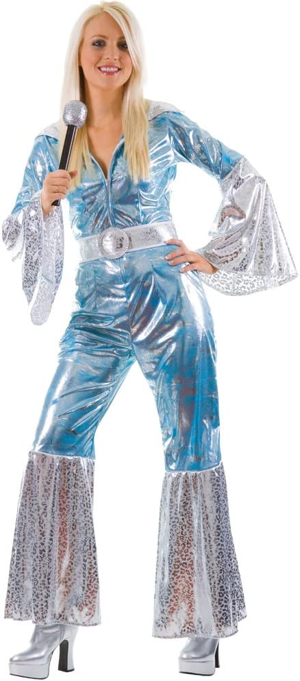 Wicked Costumes - Disfraz de ABBA, años 70, para mujer (talla 44 ...