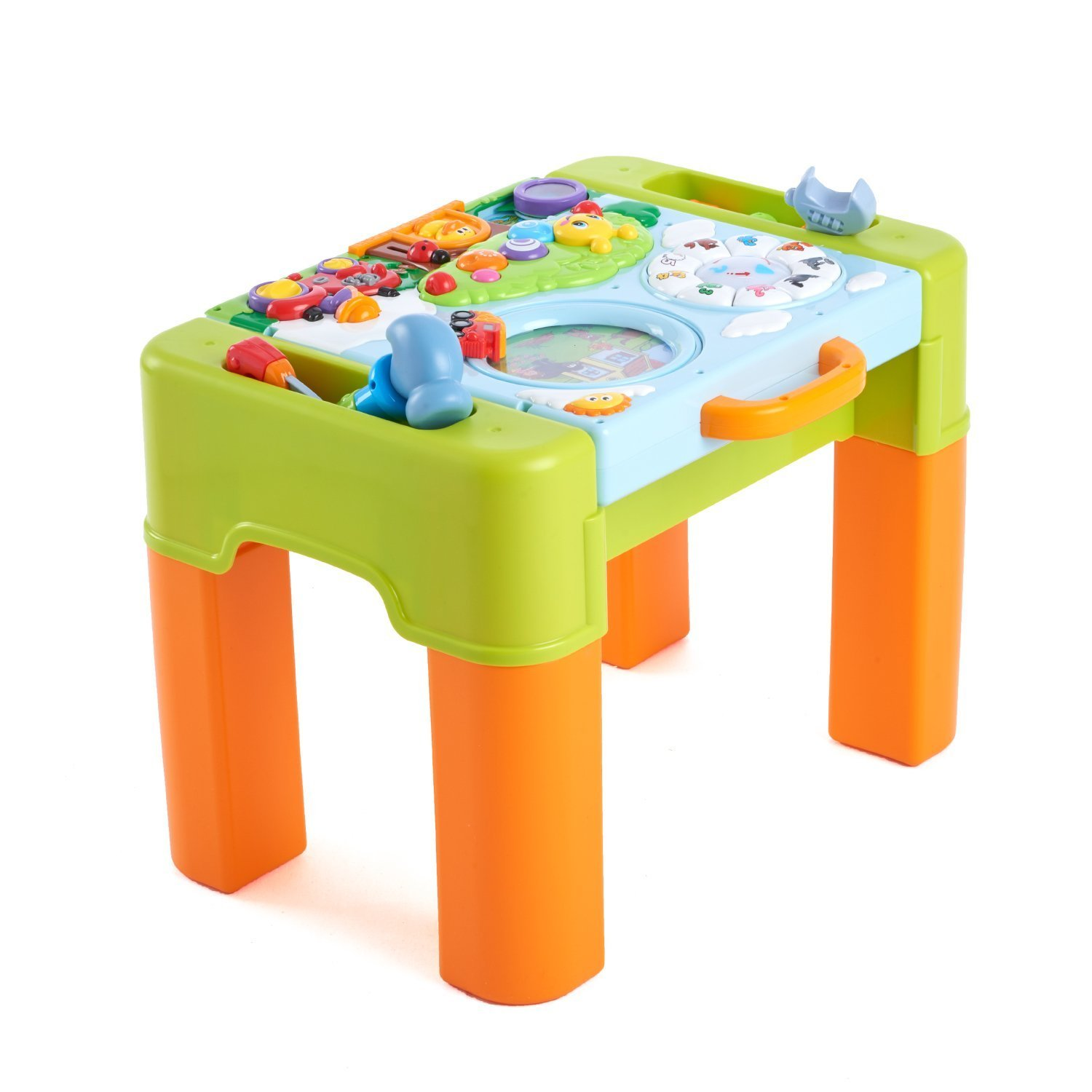 Woby Kids Play and Learning Activity Desk 6 in 1 Game Table Activity Center