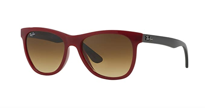 61c3f4a21b3 Image Unavailable. Image not available for. Color  Ray-Ban RB4184 - 604485  Sunglasses Red Grey Frame ...