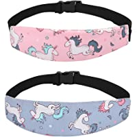 Accmor Baby Carseat Head Strap Toddler 2 Pack Unicorn Carseat Head Support for Stroller Neck Relief for Child Kids…