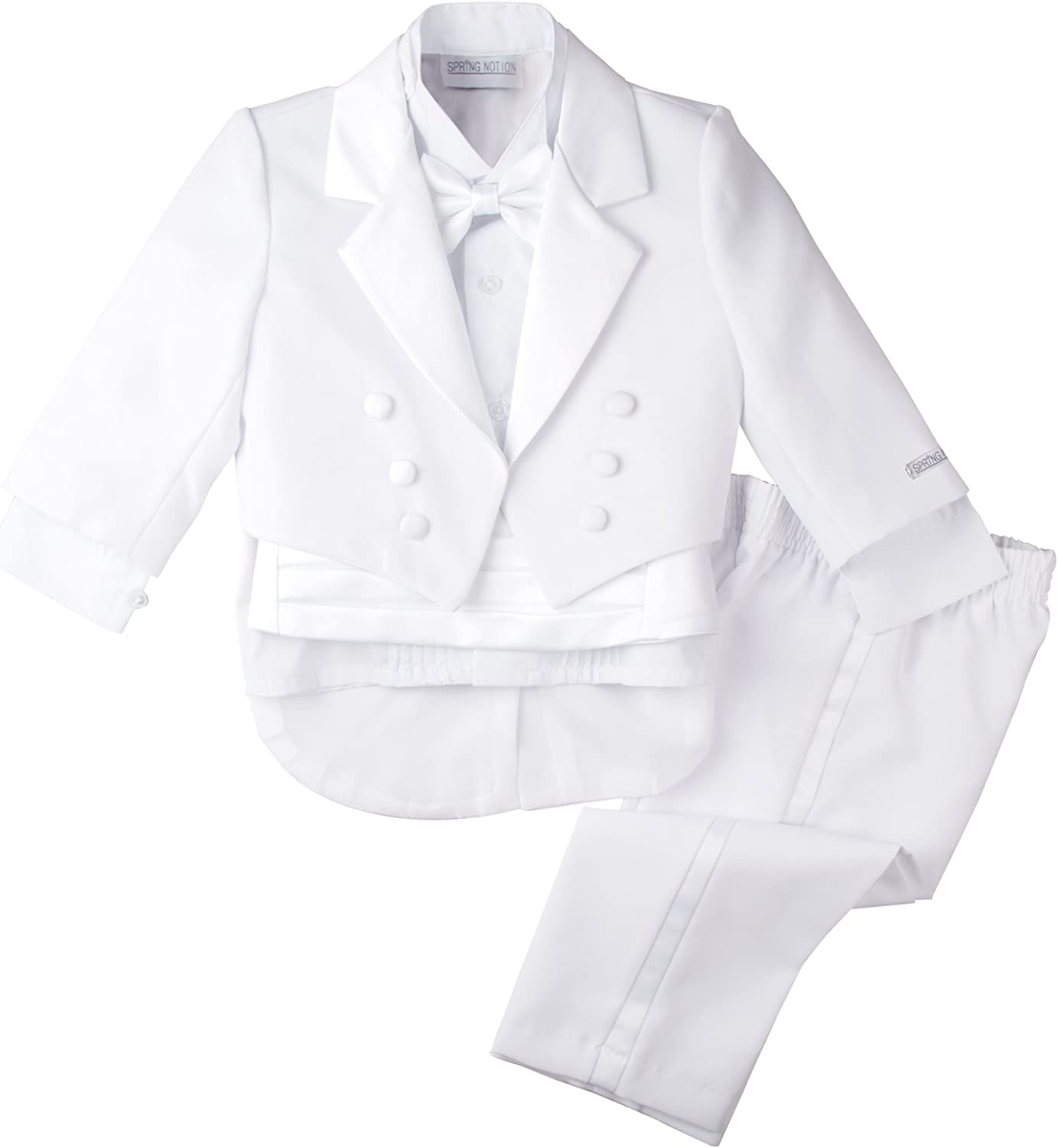 Spring Notion Boys' White with Directly managed store New color Tuxedo Classic Tail