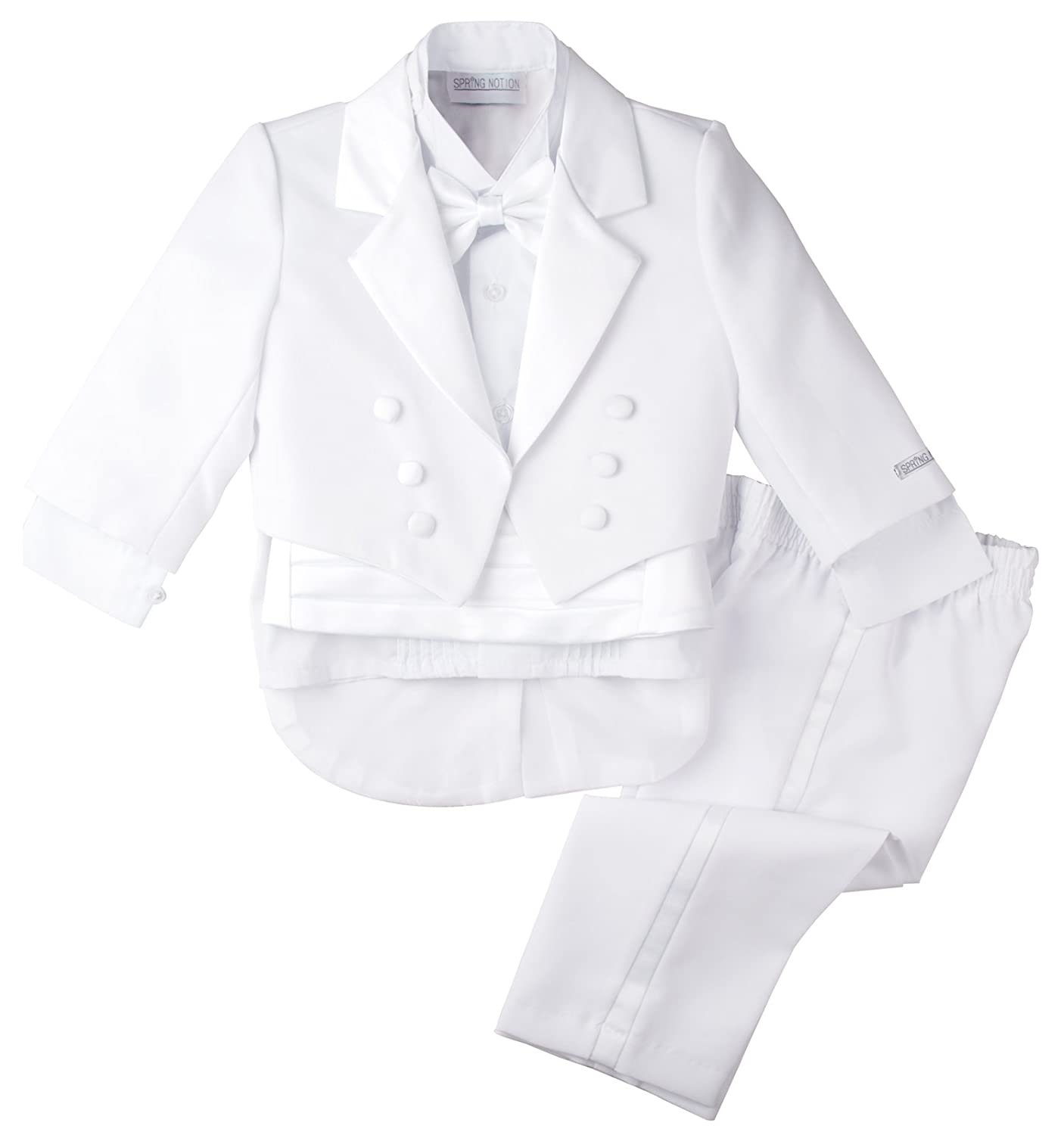 Spring Notion Baby Boys' White Classic Tuxedo Tail ERF008-SNB-008.WT