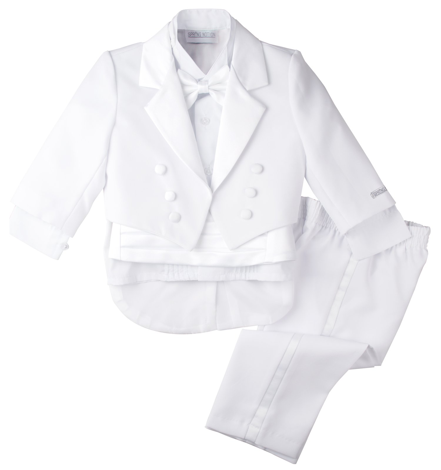 Spring Notion Baby Boys' White Classic Tuxedo with Tail 4T by Spring Notion