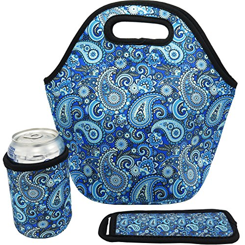 Neoprene Lunch Bag Insulated Paisley