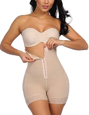 f5ab60fab48 Tummy Control Body Shaper Butt Lifter Shapewear Seamless Control Panty  Boyshorts Beige S