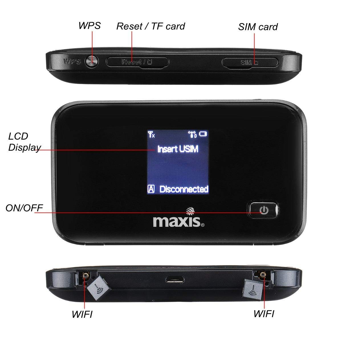 3G 4G LTE Routers Portable Wireless Mobile Hotspot Router SIM TF Card Slot for Cellphone by Beizuu (Image #3)