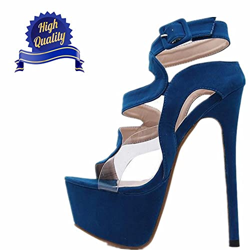 Tacon Alto Para Mujer Plataforma RocíO Del Dedo Del Terciopelo Hollow Moda  Nuevo Zapatos Con Sandalias 089b89958339