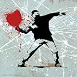 Banksy Heart Molitov Cocktail Inspirational Motivational Political Decorative Graffiti Urban Art Poster Print