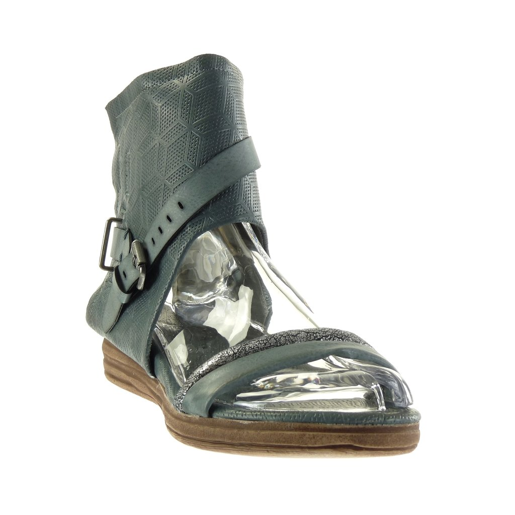 Angkorly Zapatillas Moda Sandalias Botines Abierto Mujer Perforado Tanga Hebilla Talón Tacón Plano 4 cm: Amazon.es: Zapatos y complementos