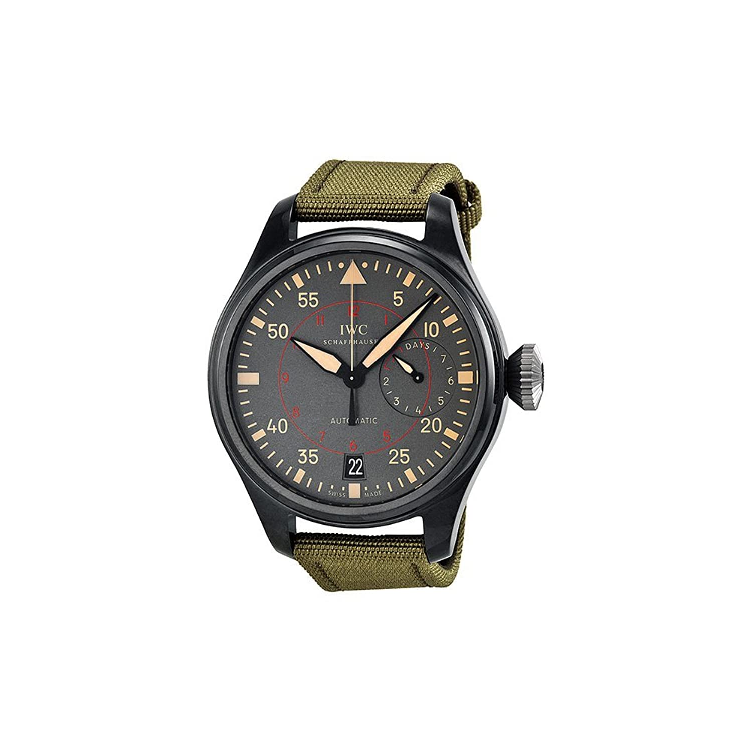 IWC Men 's Swiss AutomaticステンレススチールCasual Watch, Color : Black (Model : iw501902 ) B00AVXV3P2