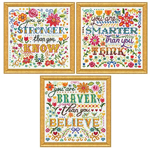 Design Works - Inspirational Counted Cross Stitch - 3 Kits: